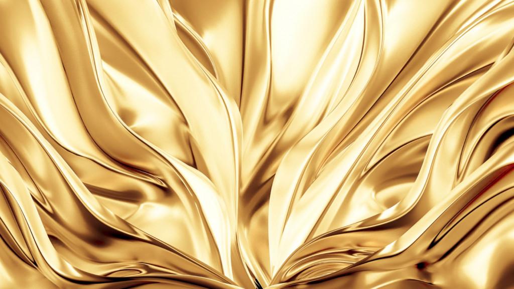 Фотообои золотой текстиль