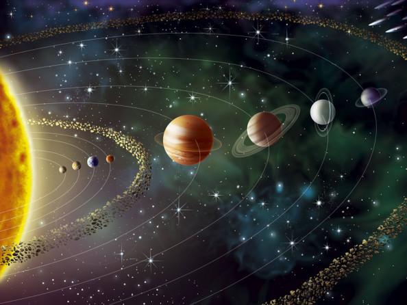 Фотообои Планеты звездные
