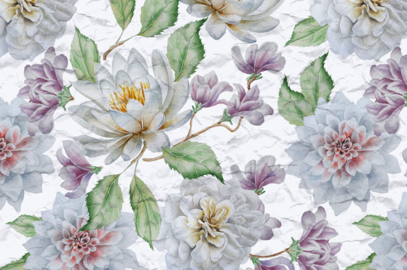 Фотообои Винтажные цветы в кухню