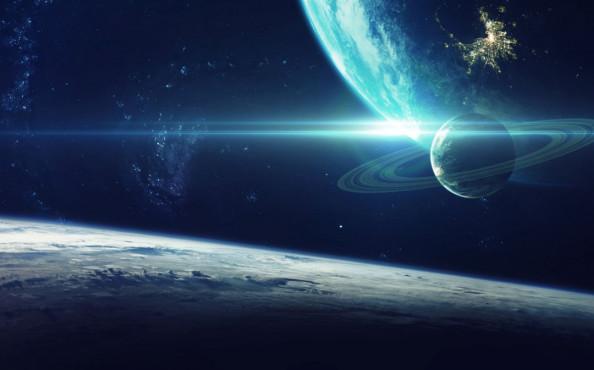 Фотообои Планета в космосе