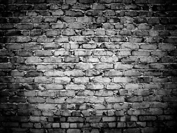 Фотообои Черно-белая кирпичная стена