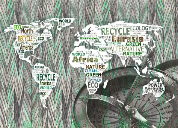 Фотообои карта мирв