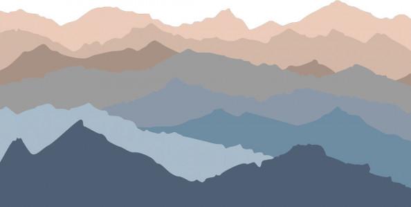 Фотообои Векторные горы