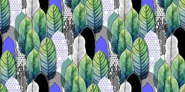Фотообои Паттерн листьев