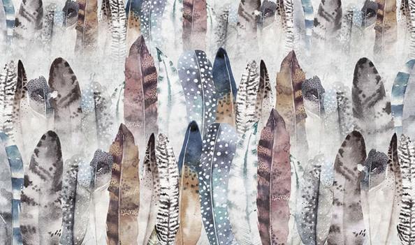 Фотообои  Вертикальные цветные перья