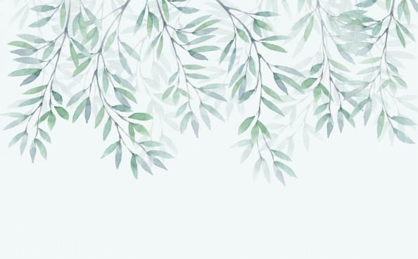 Фотообои листики с потолка