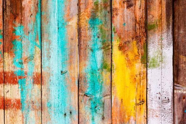 Фотообои Разноцветные доски