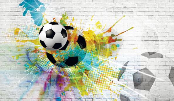 Фотообои Яркий футбольный мяч