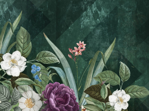Фотообои корзина роз