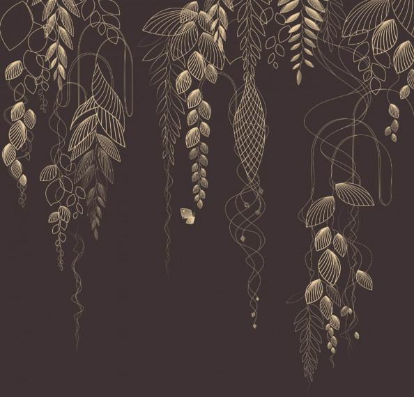 Фотообои декоративные листья