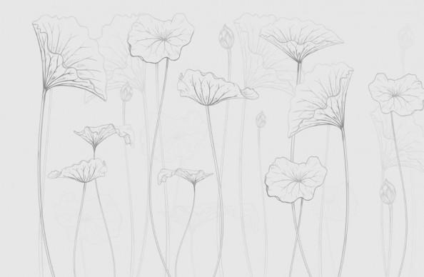 Фотообои  Векторные цветы