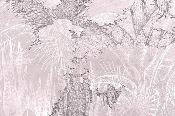 Фотообои фреска, листья