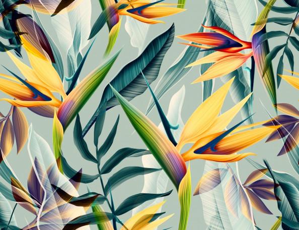 Фотообои Современные тропические листья