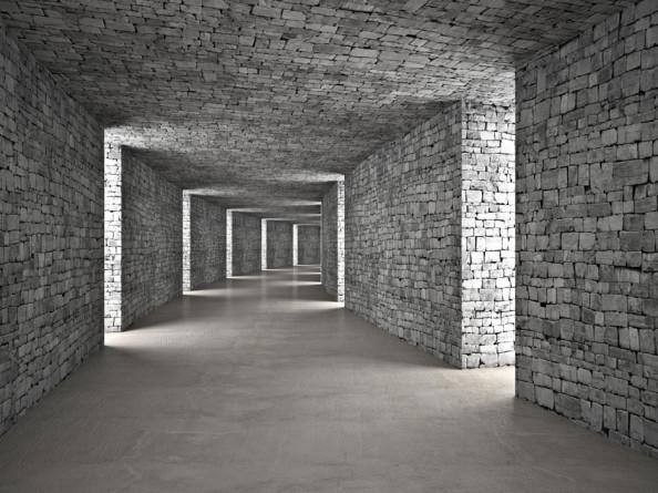 Фотообои Серый 3д тоннель
