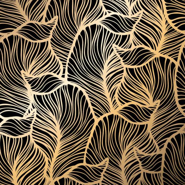 Фотообои Листья из золота