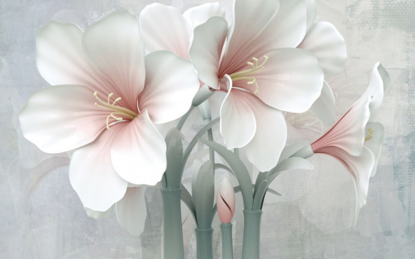 Фотообои 3д лилии