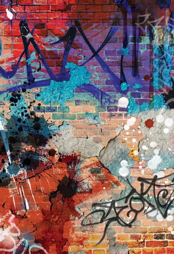 Фотообои Арт кирпичная стена