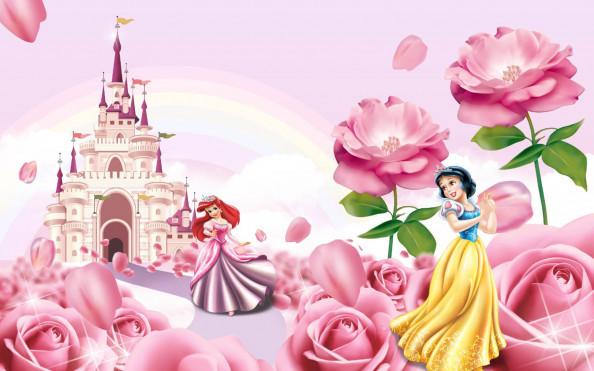 Фотообои замок и принцессы