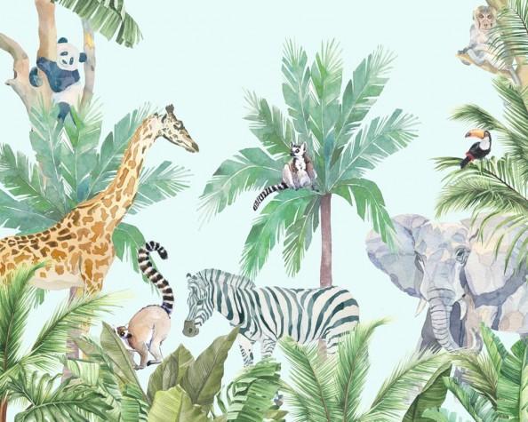 Фотообои Жирафы в тропиках