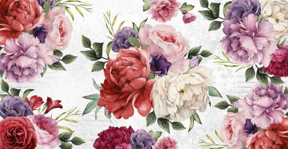 Фотообои Цветы в стиле прованс