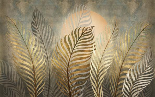 Фотообои Золотые листья