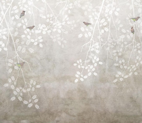 Фотообои Ветки с птицами