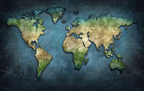 Фотообои Карта в стиле лофт