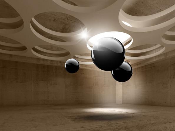 Фотообои Комната с 3д шаром
