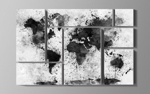 Фотообои Карта мира акварелью