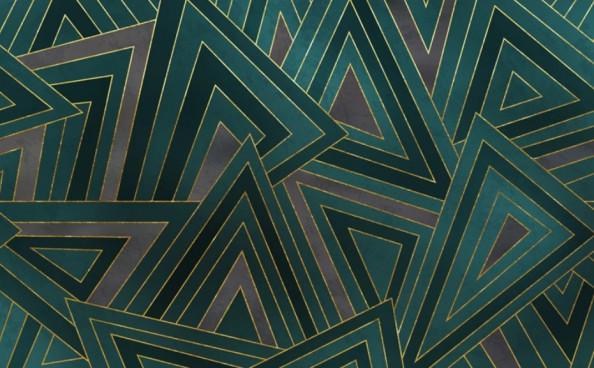 Фотообои Темно-зеленая геометрия