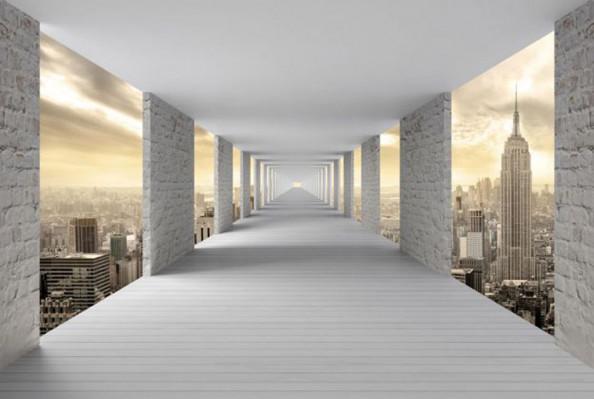 Фотообои Тоннель с видом на город