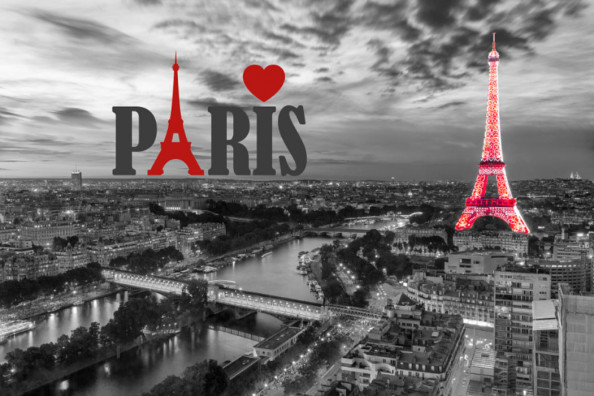Фотообои ЧБ Париж