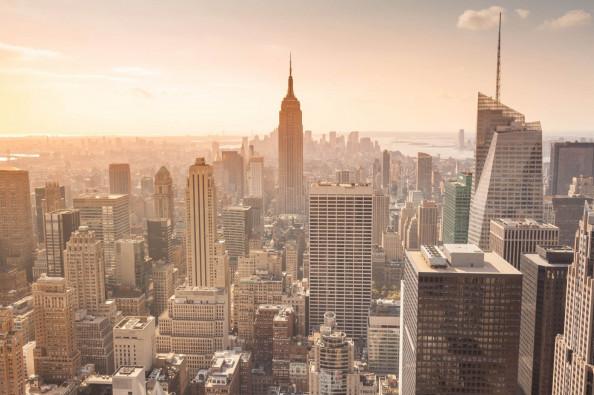 Фотообои Манхэттен на закате