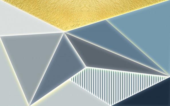 Фотообои Разноцветные треугольники