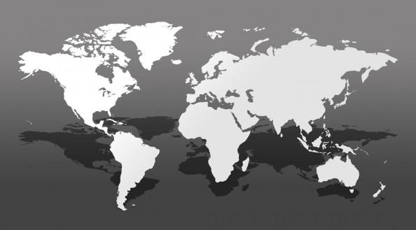 Фотообои Карта мира 3д