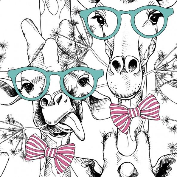 Фотообои Жирафы в очках