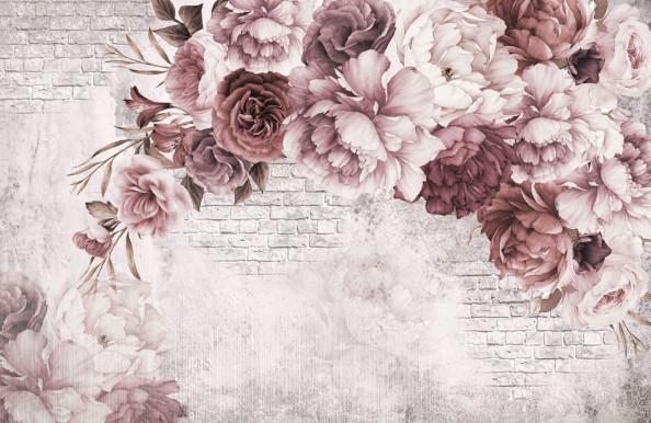 Фотообои Винтажные цветы для спальни