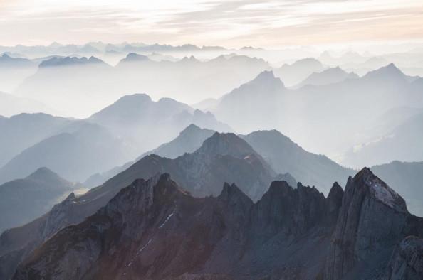 Фотообои Горы в тумане
