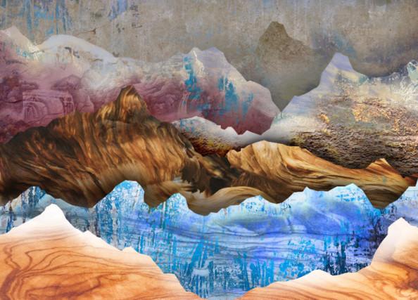 Фотообои 3д горы из текстур