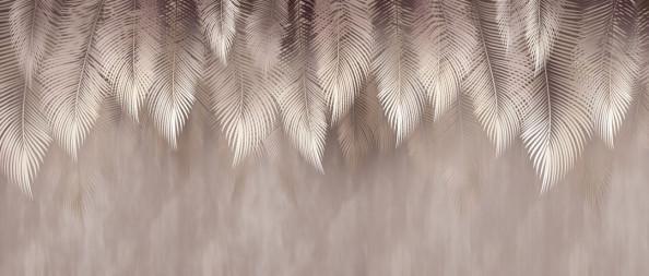 Фотообои Коричневые листья свисающие с потолка
