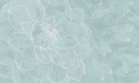 Фотообои Бирюзовый оттенок, векторный цветок