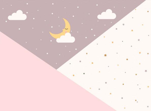 Фотообои  Месяц и звезды для девочки