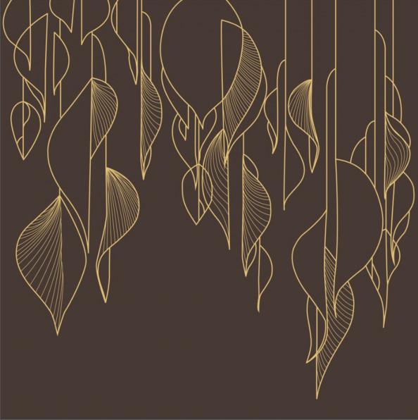 Фотообои векторные листья
