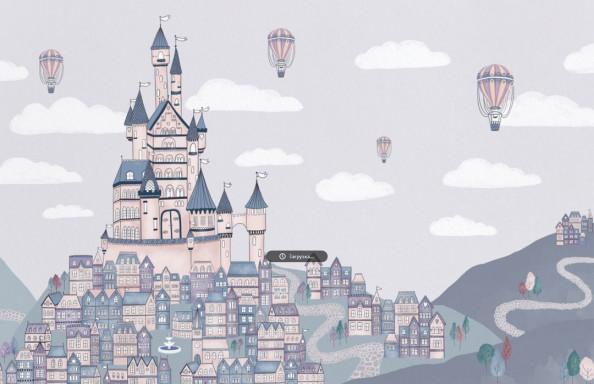 Фотообои  Сказочный замок для девочки