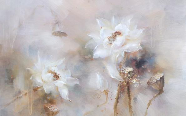 Фотообои Цветок маслом