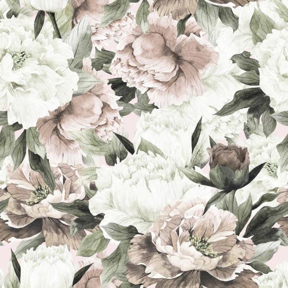 Фотообои Большие пышные цветы