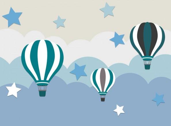 Фотообои Воздушные шары и звездочки