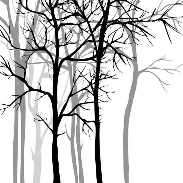 Фотообои Векторные деревья