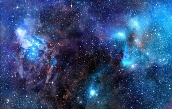 Фотообои Созвездие в синих оттенках