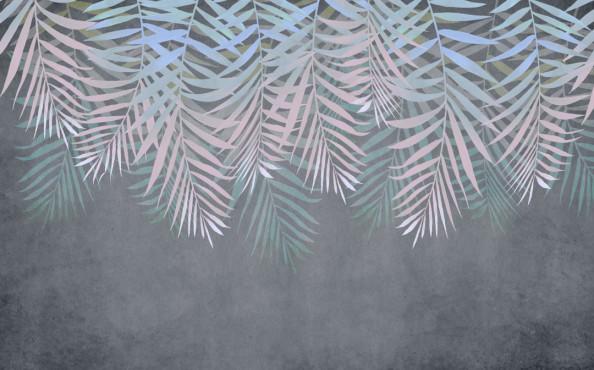 Фотообои Тропические листья свисающие